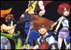Kingdom Hearts Sora Riku Kairi Donald Ansem Enigmatic Man and Goofy Official Artwork