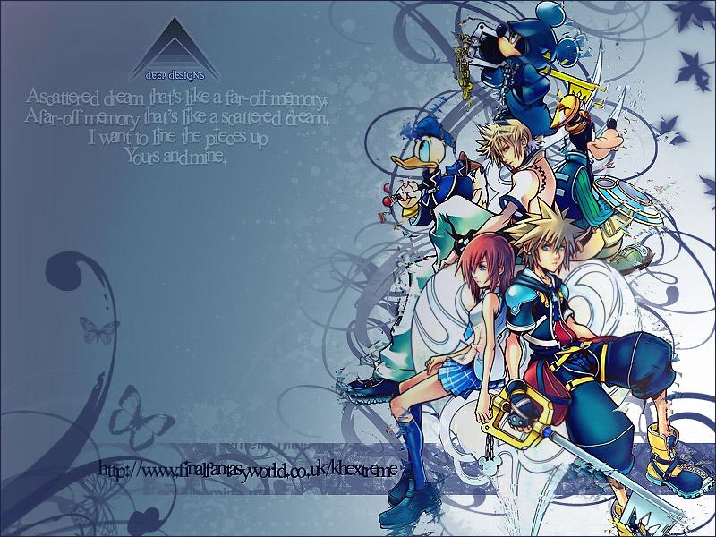 Mickey Goofy Donald Roxas Kairi Sora Kingdom Hearts 2 Wallpaper